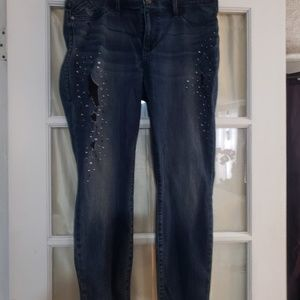 Rock and republic distressed studded jeans